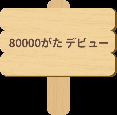 80000がた デビュー